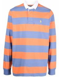 orange horizontal gestreifter Polo Pullover von Polo Ralph Lauren