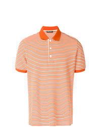 orange horizontal gestreiftes Polohemd