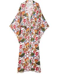 orange Kimono mit Blumenmuster von We Are Leone