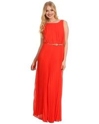 orange Kleid