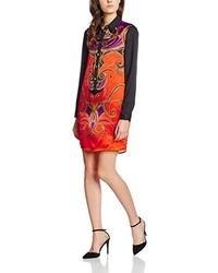 orange Kleid von Versace