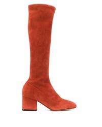 orange kniehohe Stiefel aus Wildleder von Marni