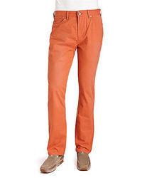 Orange Kordjeans