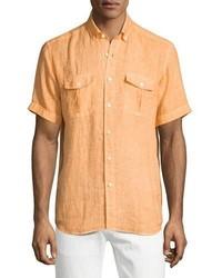 orange Kurzarmhemd