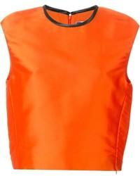 orange kurzes Oberteil von MSGM
