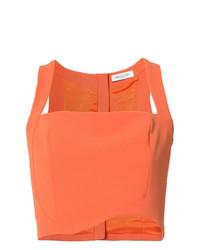 orange kurzes Oberteil von Mugler