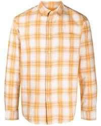 orange Langarmhemd mit Schottenmuster von Sandro Paris