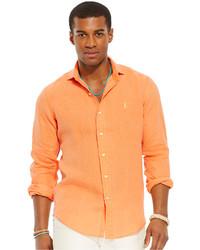 orange Langarmhemd