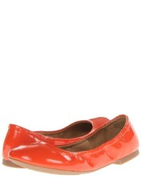 orange Leder Ballerinas