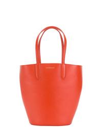 orange Leder Beuteltasche von Alexander McQueen