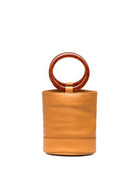 orange Leder Beuteltasche von Simon Miller