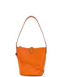 orange Leder Beuteltasche von Sophie Hulme