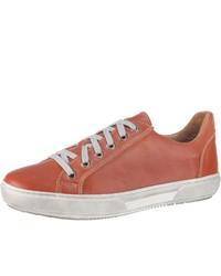 orange Leder niedrige Sneakers von Double You