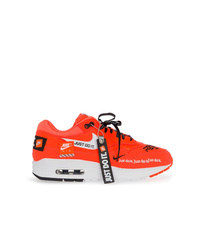 orange Leder niedrige Sneakers von Nike