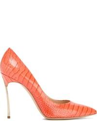 orange Leder Pumps von Casadei