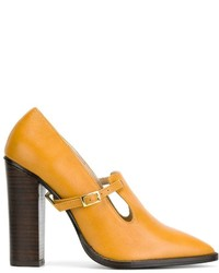 Orange Leder Pumps von Preen by Thornton Bregazzi