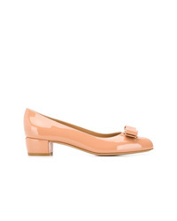 orange Leder Pumps von Salvatore Ferragamo