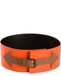 orange Leder Taillengürtel