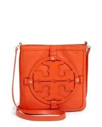 orange Leder Umhängetasche