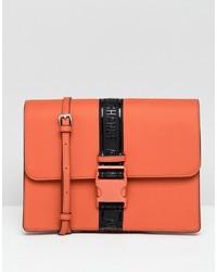 orange Leder Umhängetasche von Armani Exchange