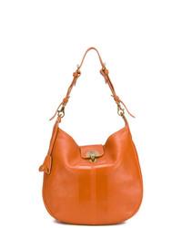 orange Leder Umhängetasche von Il Bisonte