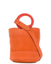 orange Leder Umhängetasche von Simon Miller