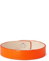 orange Lederarmband von Valextra