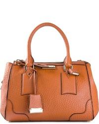orange Lederhandtasche von Burberry