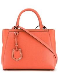 orange Lederhandtasche von Fendi