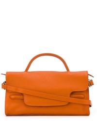 orange Lederhandtasche von Zanellato