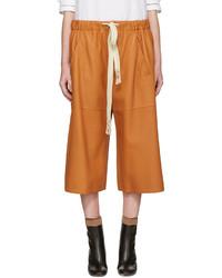 orange Ledershorts von Loewe