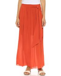 orange Maxirock von DKNY