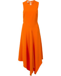 orange Midikleid
