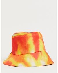 orange Mit Batikmuster Fischerhut von boohooMAN