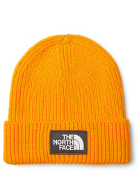 orange Mütze von The North Face
