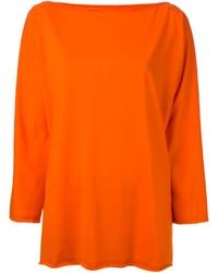 orange Oversize Pullover