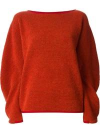 orange Oversize Pullover von Issey Miyake