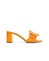 orange Pantoletten von Casadei