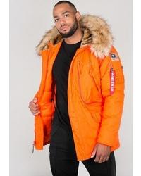 orange Parka von Alpha Industries