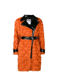 orange Pelz von Moschino