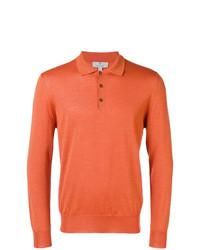 orange Polo Pullover von Canali