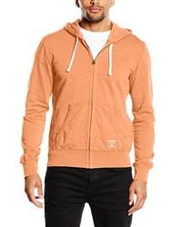 orange Pullover mit einem Kapuze von Champion