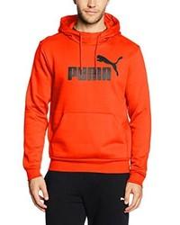 orange Pullover mit einem Kapuze von Puma
