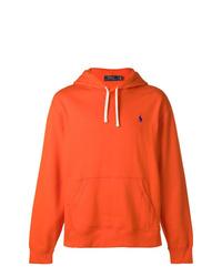 orange Pullover mit einem Kapuze von Ralph Lauren