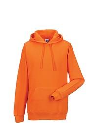 orange Pullover mit einem Kapuze von Russell