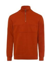 orange Pullover mit einem Reißverschluss am Kragen von Brax