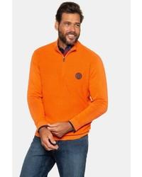 orange Pullover mit einem Reißverschluss am Kragen von JP1880