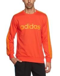 orange Pullover mit einem Rundhalsausschnitt von adidas