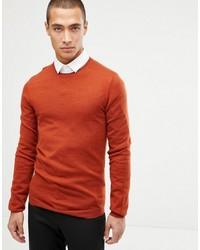 orange Pullover mit einem Rundhalsausschnitt von ASOS DESIGN