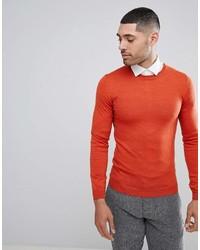orange Pullover mit einem Rundhalsausschnitt von Asos